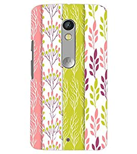 MOTOROLA MOTO X PLAY LEAFES PATTERN Back Cover by PRINTSWAG