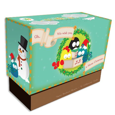 United Feathered Friends Boxed Note Cards - White