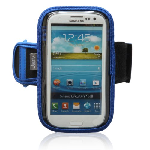 Jarv Sports Running Armband For Iphone 5/5C/5S (With Case) And Samsung Galaxy S3, S4, Nokia Lumia 1020 , And Htc One M8 (With And Without Case) - Blue