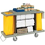 "Global Housekeeping Cart - 57""Lx21""Wx39""H - Gray"