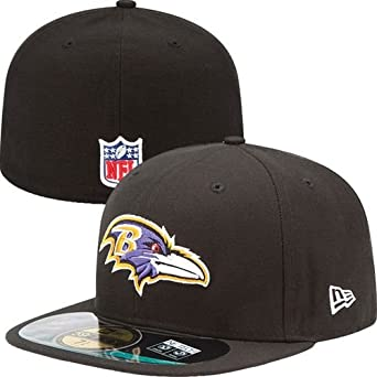 NFL Mens Baltimore Ravens On Field 5950 Game Cap By New Era by New Era