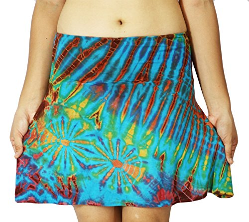 design-by-jingle-womens-hippie-short-tie-dye-spandex-bohemian-fold-over-mini-skirt-or-strapless-dres