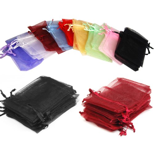 108 pcs drawstring Organza Jewelry Pouch Bags