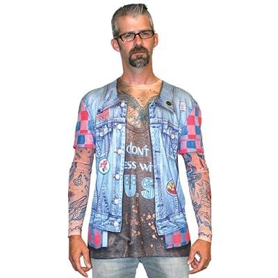 Jean Jacket Tattoo Long Sleeve T-Shirt