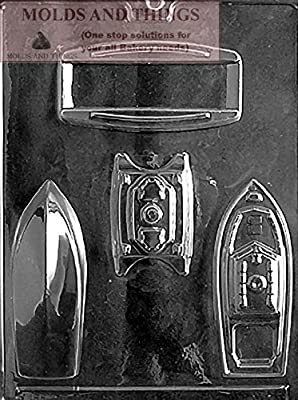 3D BOATS Chocolate Candy Mold With © Candy Making Instruction -set of 2