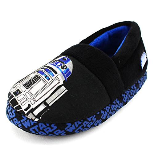 Star Wars Kids A-Line Slippers (R2D2 Black, 9/10 M US Toddler) (Boys House Slippers compare prices)