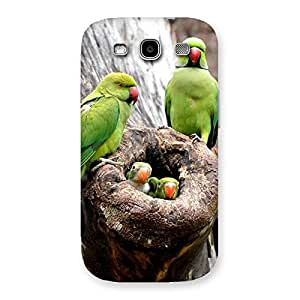 Cute Parrot House Multicolor Back Case Cover for Galaxy S3
