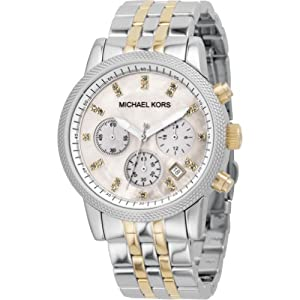 Michael Kors Watches Two-Tone Chronograph with Stones