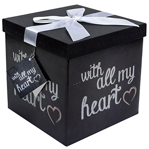 Endless Art US Amrita All My Heart EZ Gift Box. Easy to Assemble and No Glue Required. (7x7)