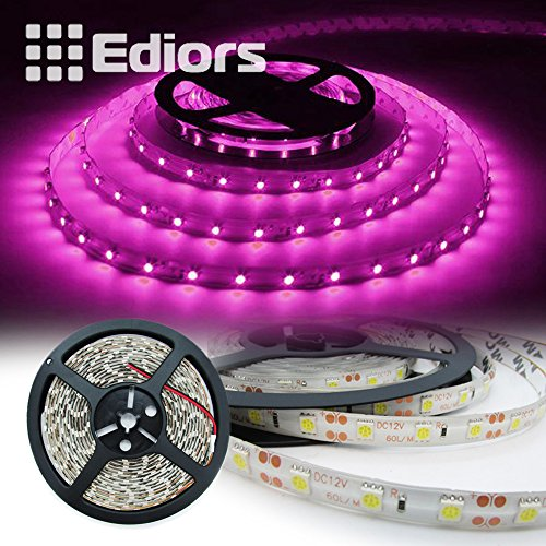 Ediors 16.4Ft 5M Waterproof Flexible 300Leds Color Changing Pink/Purple Smd 5050 Led Light Strip Ribbon Roll Outdoor Indoor