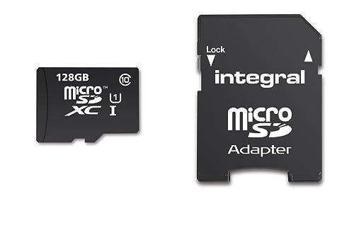 Integral INMSDX128G10-80SPTAB 128GB Micro SDXC Card