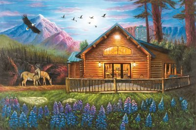 Puzzle Collector Art 500 Piece Puzzle - Cosy Cabin - 1