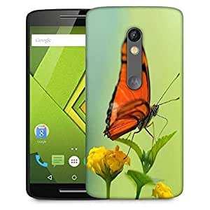 Snoogg Butterfly In Yellow Flower Designer Protective Phone Back Case Cover For Lenovo Motorola Moto G4