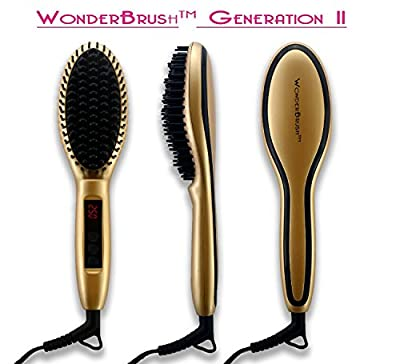Hair Straightener Brush Generation 2 by WonderBrush, Electric Ceramic LCD Display