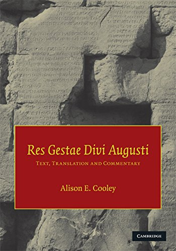 Ebook res gestae divi augusti text translation and - Res gestae divi augusti ...