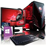 "Vibox Rampage Package 81 - 4.0GHz Intel i7 Quad Core CPU, GTX 980 GPU, Extreme, Desktop Gaming PC Computer with Exclusive WarThunder Game Voucher Bundle, 22"" Monitor, Gaming Keyboard & Mouse, Windows 8.1 OS and Lifetime Warranty* (4.0GHz Intel i7 Quad 4-Core CPU Processor, Nvidia Geforce GTX 980 4GB High Performance Graphics Card GPU, 32GB Kingston HyperX 1600MHz RAM, 240GB Solid State Drive SSD, 3TB Hard Drive, Coolermaster 120V-R2 Liquid Cooler)"