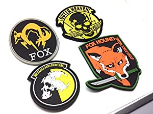 Ecussons Velcro Airsoft PVC Metal Gear Solid x 1 Lot