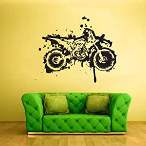 Wall vinyl sticker decals decor art bedroom for Dirt bike wall mural