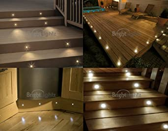 led warm white deck lights decking plinth kitchen lighting