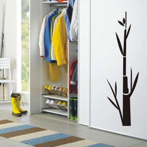Imagen 2 de Etiqueta de la pared f45 planta de bambú hermoso 40x11 cm