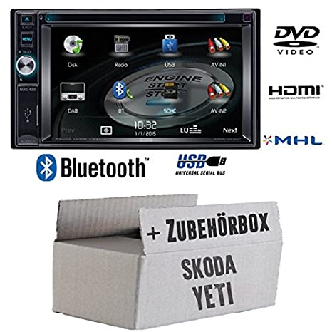 Pour skoda yeti-mAC audio mAC 420-2DIN dVD bluetooth uSB avec kit de montage