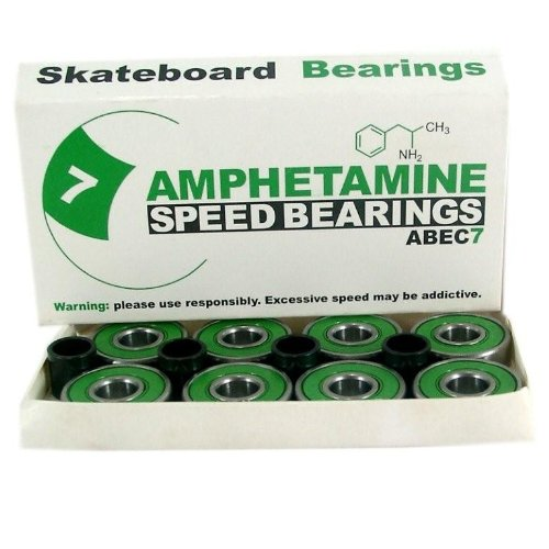 Amphetamine Kugellager Abec 7, grün 8 Ball inkl. Spacer