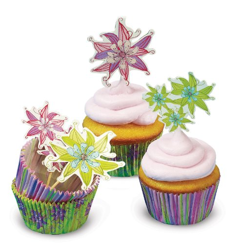 Field of Flowers Cupcake Decor Set