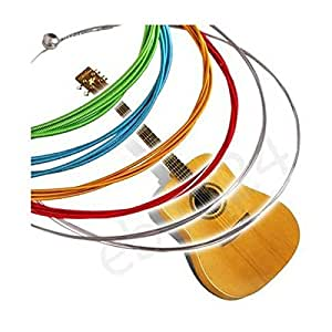 Amazon.com: 6 Rainbow Colorful Color Strings Set For Acoustic Guitar