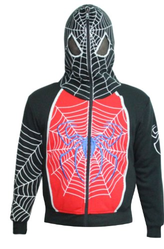 AMC Boys Spiderman Character Mask Zipper Hoodie