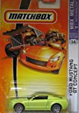 Mattel Matchbox 2007 MBX Metal 1:64 Scale Die Cast Car # 16 - Metallic Lime Coupe Ford Mustang GT Concept