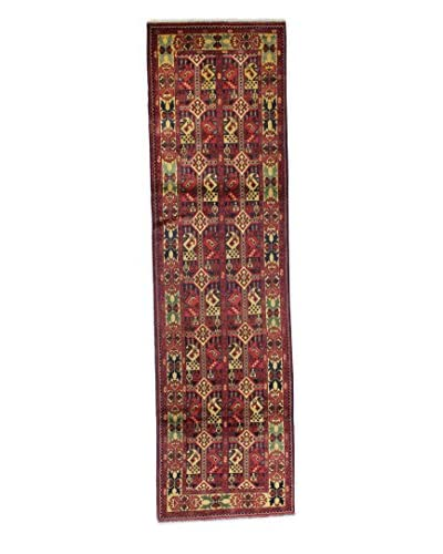 Bashian Rugs Hand-Knotted Afghan Rug, Dark Blue, 2' 7 x 9' 6 Runner