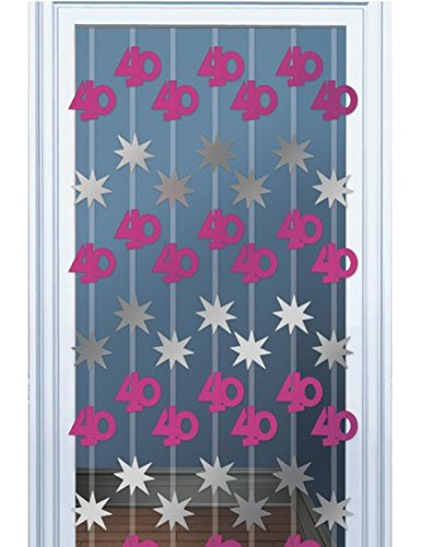 Pink Shimmer 40th Door Danglers Decoration