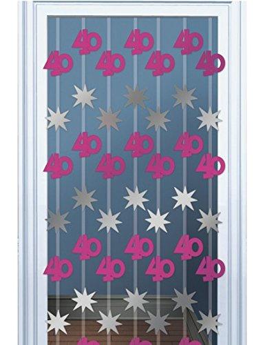 Pink Shimmer 40th Door Danglers Decoration