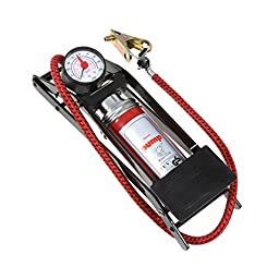 Auto Tech AT-0002 Black Automotive Air Pressure Foot Pump
