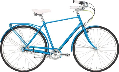 Civia Twin City MD 5-Speed Sky Blue Step-Over with Rack & Fenders