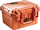 Pelican 1300 Case with Foam for Camera (Orange)