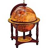 KasselTM 13 Diameter Globe with 57pc Chess and Checkers Set