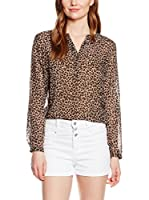 Tom Tailor Blusa lucy leo blouse/408 (Leopardo / Marrón Oscuro)