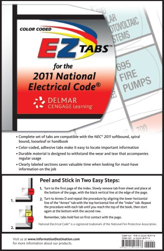 Color Coded EZ Tabs for the 2011 National Electrical Code