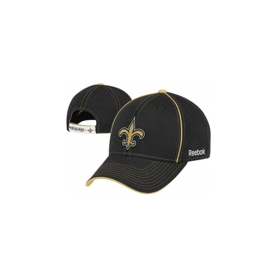 8d3b6e7840e New Orleans Saints Reebok Contrast Structured Adjustable Hat on ...