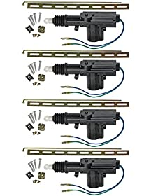 Universal Car Power Door Lock Actuator 12-Volt Motor (4 Pack)