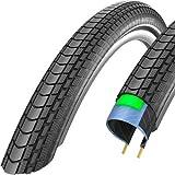 Schwalbe Marathon Almotion Evolution Line Lite Skin One Star Dynamic Casing Folding Tyre - Reflex Black, 26 x 2.15 Inch