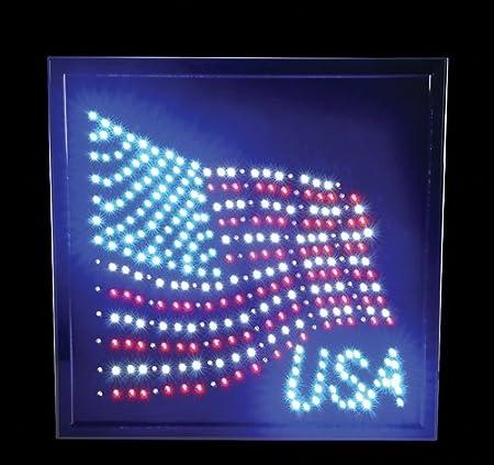 "LIGHT-UP ""U.S.A."" SIGN, Case of 5"