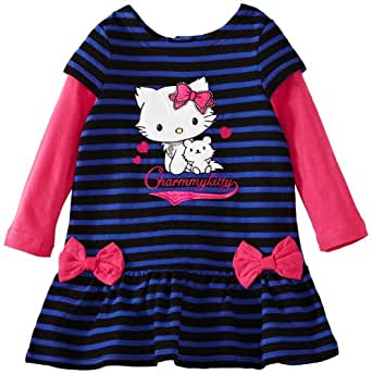 Charmmy Kitty HM1009 Girl's Dress Blue/Pink 3 Years