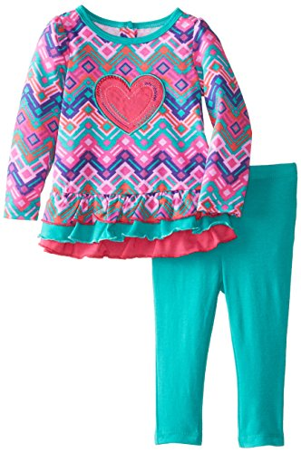 Kids Headquarters Baby-Girls Infant 2 Pieces Tunic And Legging With Heart, Green, 24 Months front-631518