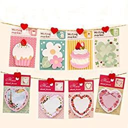 ADB Inc 2 Pack Hot New Cupcake Sticker Post It Bookmark Point It Marker Memo Flags Sticky Notes