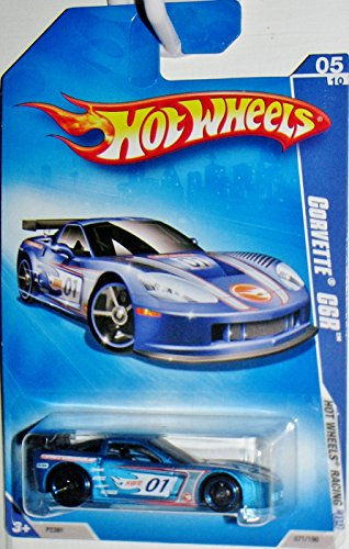 Hot Wheels '09 2009 Racing 071/190 Corvette C6r 05/10 1:64 Scale - 1