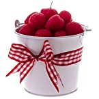 Strawberry Filled Wax Pail Candle