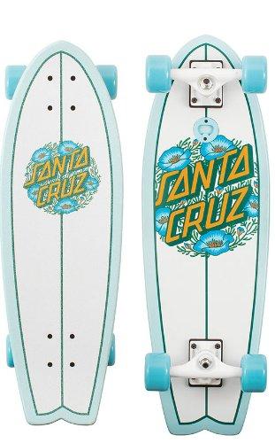Amzone Santa Cruz Poppy Dot Shark Complete Skateboard