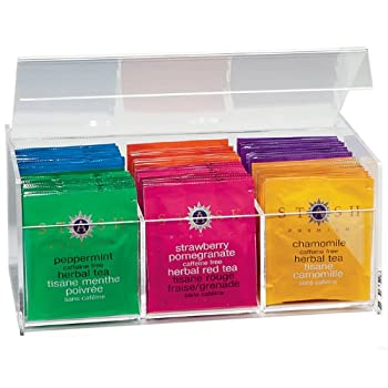 Clear 6-Cell Tea Chest with Tea